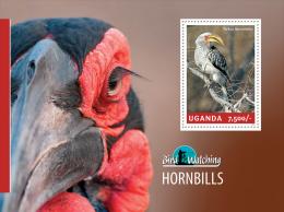 ugn14308b Uganda 2014 Bird Watching s/s Hornbill