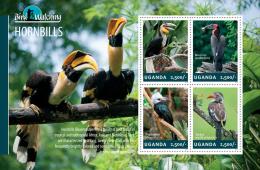 ugn14308a Uganda 2014 Bird Watching s/s Hornbill