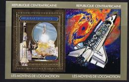 1981  Navette Spatiale Au Décollage  MiNr Bloc 180A **  Espace - Space - Central African Republic