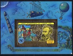 1979  Année Internationale De L'enfant Jules Verne MiNr Bloc 57A ** - Espace - Space - Central African Republic