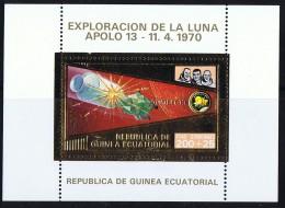Exploration De La Lune - Apollo XIII MiNr Bloc 62-A-62 **  - Espace - Space - Äquatorial-Guinea