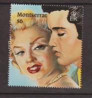 Montserrat 1995 $6 Monroe & Presley Single MNH - Montserrat