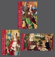 lie2140430 Liechtenstein 2014 Painting Winged altar 3v Michel Nr.1707-1709