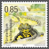 lie2140701 Liechtenstein 2014 Amphibians Yellow-bellied toad Michel Nr.1714