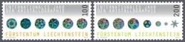 lie2141130 Liechtenstein 2014 Crystallography 3v Michel Nr.1723-1724