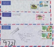 Montserrat 1980 - 1987 4 Official Covers To USA - Montserrat