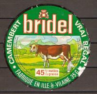 CAMEMBERT BRIDEL étiquette Verte 45 % De Matière Grasse / Etat Moyen (lot B) - Fromage
