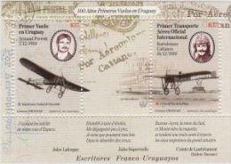 Uruguay 2010 **  Primeros Vuelos Uruguayos. Escritores Franco Uruguayos. - Aviones