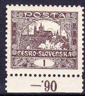 * Tchécoslovaquie 1918 Mi 18 (Yv 1) Dentelé 10 1/2 - Dentelé Par Etat Semi-oficiel, (MH) - Neufs