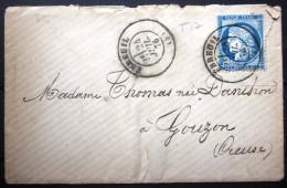 Cachet T 17 Sur Cérès + T 18 MONTLUCON Au Verso  --  EBREUIL  --  ALLIER  --  LSC  --  1876 - Storia Postale