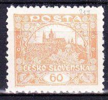 ** Tchécoslovaquie 1918 Mi 20 (Yv 17) Dentelé 9 1/2 - Dentelé Privé, (MNH) - Neufs