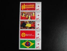 België Belgium 2014 - My Stamps Voetbal Rode Duivels / Football Soccer Belgian Red Devils - FIFA World Cup 2014 Brasil - Belgium