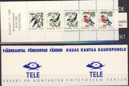 ##H466. Finland 1991. Complete Booklet. Birds. Michel 28. MNH(**) - Finland
