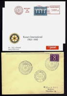 LOT 2 LETTRES + 2 CARTES ROTARY INTERNATIONAL- EUROPE- NEDERLAND- HOLANDE- TAMPONS DE 1965-73-85 - 4 SCANS - Rotary, Lions Club