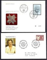 LOT 4 LETTRES ROTARY INTERNATIONAL- EUROPE- DANMARK + SUISSE N°1473- TAMPONS DE 1971-73-80 - 2 SCANS - Rotary, Lions Club