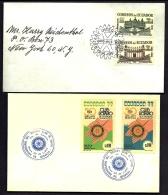 LOT 4 LETTRES ROTARY INTERNATIONAL- AMERIQUE- ECUADOR- EQUATEUR- TAMPONS DE 1955-77-92 - 3 SCANS - Rotary, Lions Club
