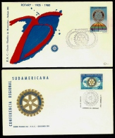 LOT 4 LETTRES ROTARY INTERNATIONAL- AMERIQUE- URUGUAY- TAMPONS DE 1968-80-90 - 2 SCANS - Rotary, Lions Club
