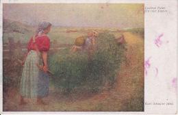 AK Karl Schuster - Lustige Fahrt - Wiener Kunst  (8492) - Künstlerkarten