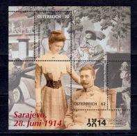 2014 Austria Österreich Autriche 100 Anniversary Of The Assassination Of Archduke Franz Ferdinand In Sarajevo WWI MNH** - Familias Reales