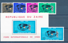 CONGO  KINSHASA ZAIRE 1979 ISSUE COB 985/88 +989 + BL35 MNH - Zaïre