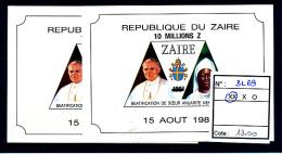 CONGO  KINSHASA ZAIRE 1993 ISSUE COB BL69 X2 MNH - 1990-96: Neufs