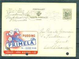 """PUBLIBEL Nr 1265 - Pudding """"PRIMELA"""", KESSEL-LO - Cachet """"VILVOORDE"""" - Geperforeerd/perforé - Enteros Postales"""