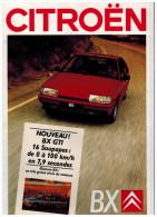 CTROEN BX CATALOGUE 47 PAGES 1987  Format A4 FRANCE - Publicidad