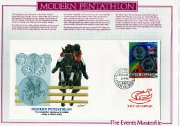 """Iles Cook: 1988  Très Belle Fdc Jeux Olympiques De Séoul Illustration équitation """"pentathlon Moderne"""" - Summer 1988: Seoul"""