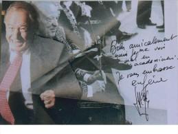 Carte - Eugène SACCOMANO - Hand Signed, Dédicace, Signé - Authographe - Célébrités