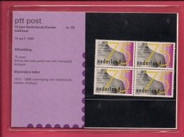 NEDERLAND, 1988, MNH Stamps/map,75 Years Cancer Institute,  NVPH Nr. 1403  F3039 - Blocks & Sheetlets