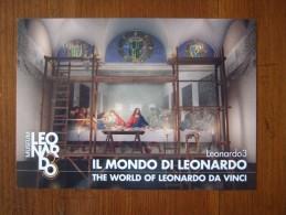 Il Mondo Di Leonardo Da Vinci Carte Postale - Publicidad