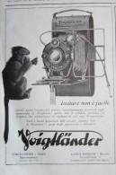 PUBBLICITA´ OTTICA OTTICO OBIETTIVI LENTI APPARECCHI VOIGTLANDER 1930 - Publicidad
