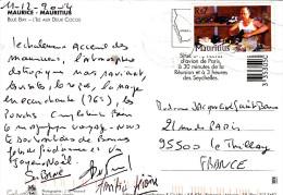 MAURITIUS Rs7 CORDONNIER Sur CARTE POSTALE ILE AUX DEUX COCOS - Maurice (1968-...)