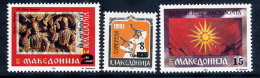 MACEDONIA 1994 Surcharges  MNH / **.  Michel  20-22 - Macedonia