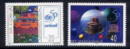 MACEDONIA 1996 UNICEF & UNESCO 50th Anniversary  MNH / **.  Michel 91-92 - Macedonia