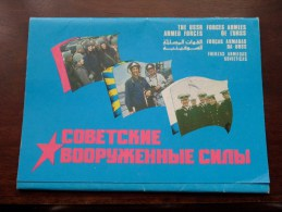 The USSR ARMED FORCES / Fuerzas Armadas Sovieticas ( N° 302 ) Anno 1990 - Carnet 18 Views ( Zie Foto´s Voor Details ) !! - Russie