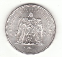 PIECE DE 50F EN ARGENT HERCULE - M. 50 Francs