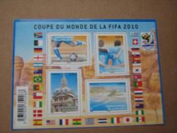 2010   F4481  Nos Yv  4481/4484  COUPE DU MONDE  2010   SOUS LA FACIALE - Neufs