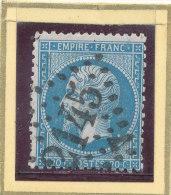 N°22 VARIETE REPERTORIEE AU VERSO. - 1862 Napoleon III