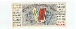 Buvard Riz La Croix Papier A Cigarettes - Tabac & Cigarettes
