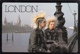 London Punks 16X11cm Postcard 168 - London