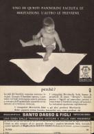 # MAGLIERIA SANTO DASSO GENOVA 1950s Advert Pubblicità Publicitè Reklame Underclothes Lingerie Ropa Intima Unterkleidung - 1940-1970