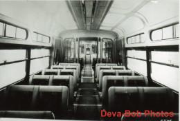 Tram Photo Blackpool Corporation Tramways Coronation Car 304 New 1952 Interior - Trains