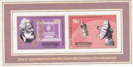 Aitutaki 1977 Telephone Centenary Souvenir Sheet MNH - Aitutaki