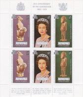 Aitutaki 1978 25th Anniversary Coronation Souvenir Sheet MNH - Aitutaki