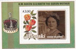 Aitutaki 1985 Queen Mother 85th Birthday Souvenir Sheet MNH - Aitutaki