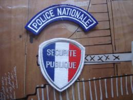 Lot De INSIGNE TISSUS PATCH POLICE NATIONALE SECURITE PUBLIQUE - Polizia