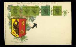 AK Um 1900 Ungelaufen Motiv: BRIEFMARKEN SCHWEIZ(67157) - GE Genève