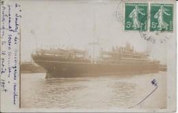 """CARTE-PHOTO  """"LE SOUDAY"""" Des Messageries Maritimes  -Jaugeaud 10 000Tonnes. - Steamers"""
