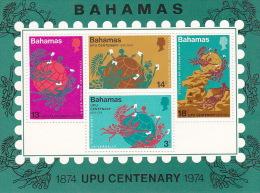 Bahamas 1974 UPU Centenary Souvenir Sheet MNH